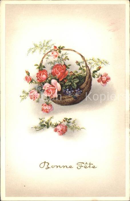 Rosen Veilchen Korn Bonne Fete  Kat. Pflanzen
