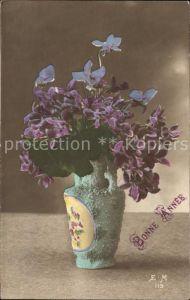 Blumen Veilchen Vase Neujahr  Kat. Pflanzen