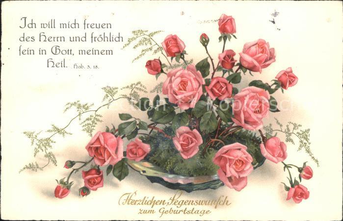 Geburtstag Rosen Kat Greetings Nr St87874 Oldthing Gluckwunsch
