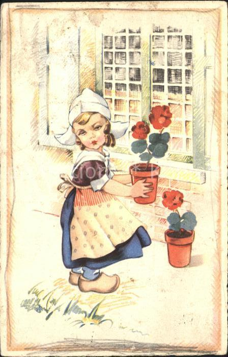 Kinder Hollandtracht Blumen  Kat. Kinder