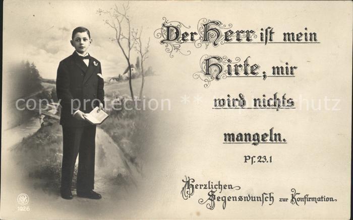 Foto NPG Nr. 1926 Konfirmation Junge Bibel  Kat. Neue Photographische Gesellschaft