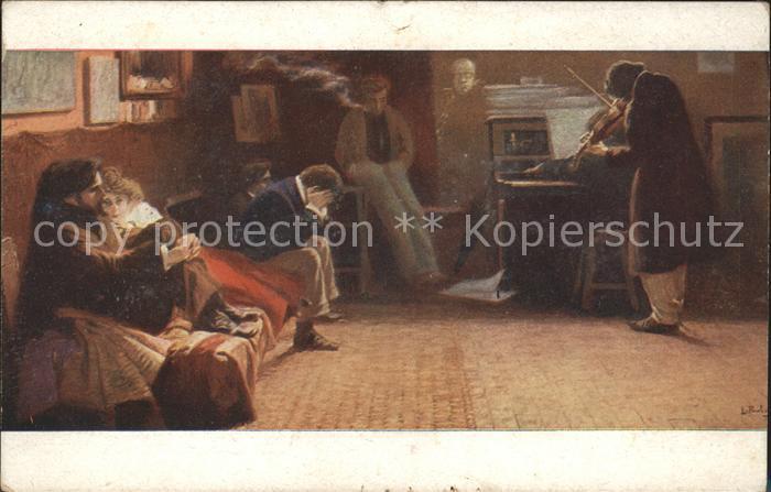 Beethoven Kuenstlerkarte L. Balestrieri Salon J.P.P. 2090 Kat. Persoenlichkeiten