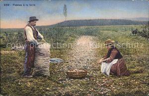 Landwirtschaft Kartoffelernte Fideles a la terre   Kat. Landwirtschaft