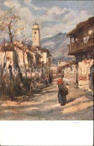 Kuenstlerkarte V. A. Cargnel Fine di Marzo Nr. 1059  Kat. Kuenstlerkarte