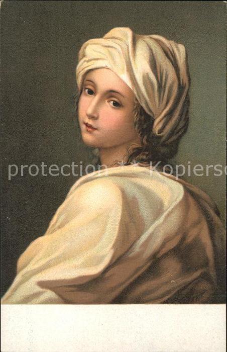 Kuenstlerkarte Guido Reni Beatrice Cenci  Kat. Kuenstlerkarte