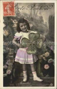 Foto PC Paris Nr. 4103 Kind Kleeblatt Blumen Amitie Freundschaft Kat. Fotografie