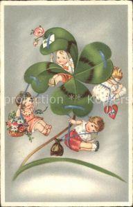 Kleeblatt Kinder Karussell Blumen  Kat. Greetings