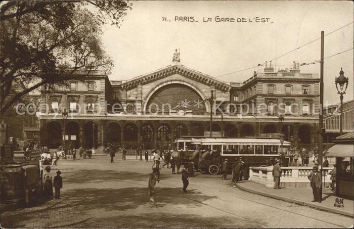 Autobus Omnibus Paris La Gare de l'Est / Autos /
