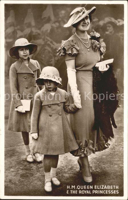 Adel England Queen Elizabeth Royal Princess Elizabeth Margaret Kat. Koenigshaeuser