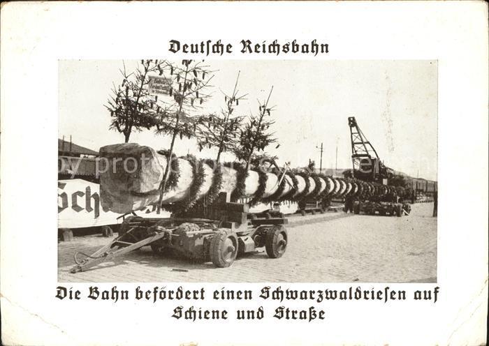 Bahnen Deutsche Reichsbahn Baumstamm / Bahnen /