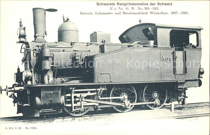 Lokomotive Schwerste Rangirlokomotive Schweiz  / Eisenbahn /