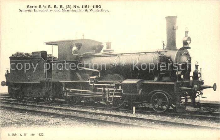 Lokomotive Maschinenfabrik Winterthur Schweiz  / Eisenbahn /