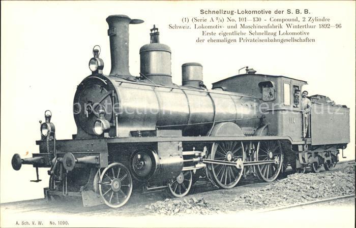 Lokomotive Schnellzug SBB No. 114  / Eisenbahn /