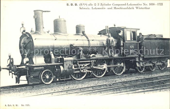 Lokomotive SBB No. 1678 / Eisenbahn /