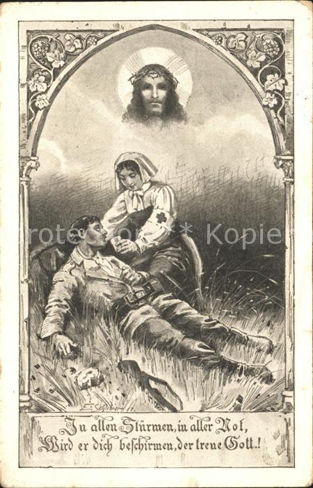 Rotes Kreuz WK1 Soldat Jesus Spruch  / Rotes Kreuz /