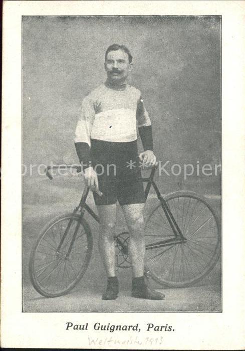 Radsport Bahnradsportler Paul Guignard Fahrrad Paris / Sport /