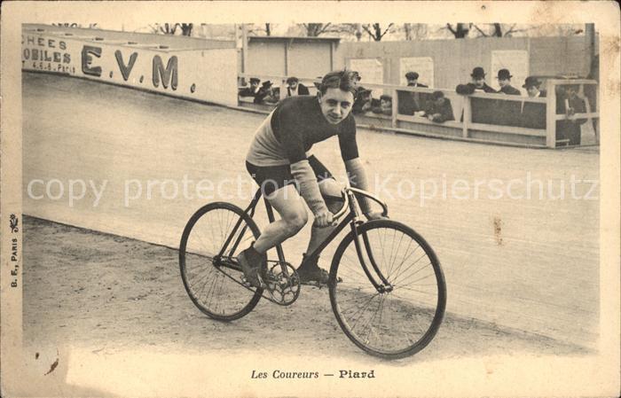 Radsport Bahnradsportler Charles Piard Fahrrad  / Sport /