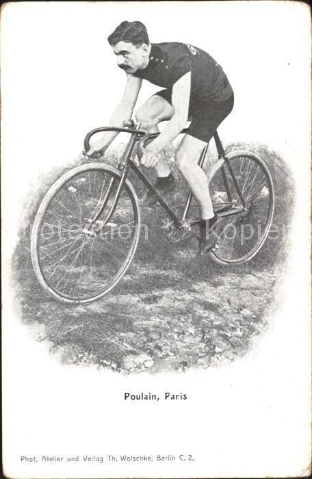Radsport Radrennfahrer Gabriel Poulain Fahrrad  / Sport /