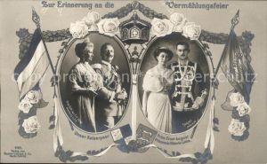 Wilhelm II Kaiserin Auguste Viktoria Prinz Ernst August Prinzessin Viktoria Luise Vermaehlungsfeier  / Persoenlichkeiten /