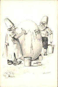 Zwerge Ei malen Eimer Pinsel Ostern  / Maerchen und Sagen /