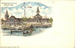 Ausstellung Gewerbe Berlin 1896 Fischerei-Ausstellung Hansa Haus Litho / Expositions /