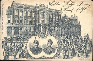 Wilhelm II Kaiserin Auguste Viktoria Andenken 1901 / Persoenlichkeiten /