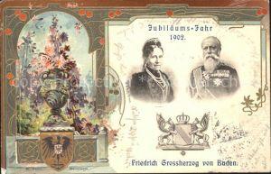 Adel Baden Grossherzog Friedrich I. Grossherzogin Luise von Baden Jubilaeums-Jahr 1902 / Koenigshaeuser /