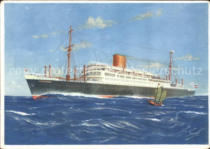 Dampfer Oceanliner Doppelschrauben-Turbinen-Schnelldampfer Scharnhorst  / Schiffe /