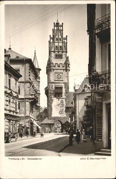 Fotograf Freiburg Im Breisgau foto baumgartner e nr 1836 freiburg im breisgau schwabentor