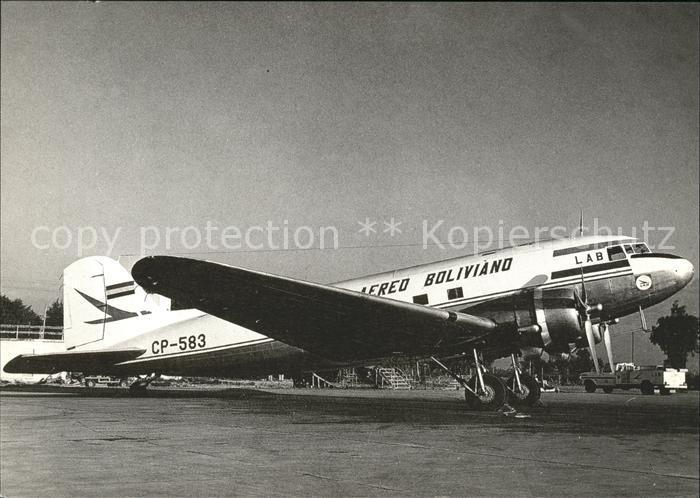 Flugzeuge Zivil Lloyd Aereo Boliviano DC 3 CP 583 (c n 9668)  Kat. Flug
