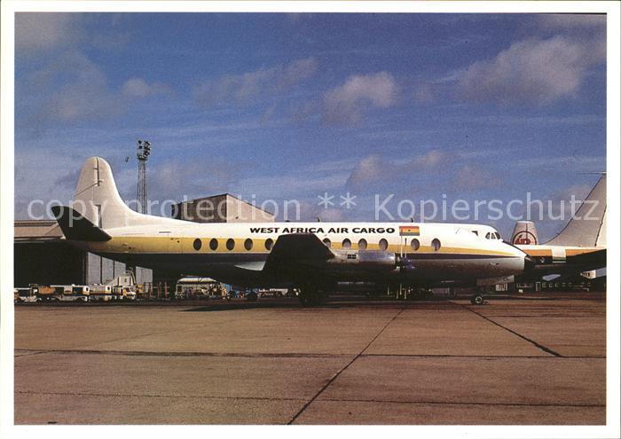 Flugzeuge Zivil West Africa Air Cargo Vickers Viscount  Kat. Flug