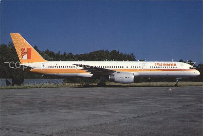 Flugzeuge Zivil Hispania Boeing 757 23A N510EP EC EMU c n 24290 212 Kat. Flug