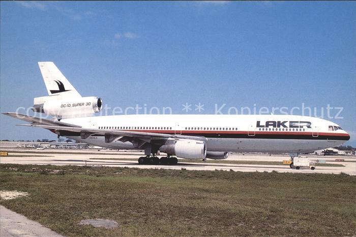 Flugzeuge Zivil Laker Airways N833LA DC 10 30 cn 46958 232 Kat. Flug