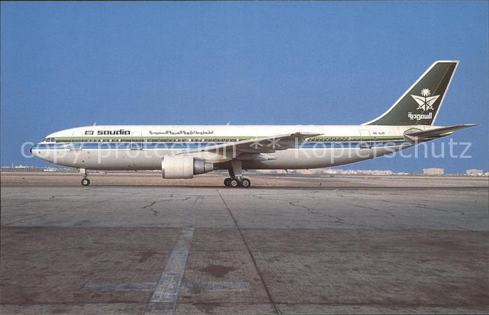 Flugzeuge Zivil Airbus Industrie A300 620 (A300B4 620) HZ AJG (cn 321) Saudia Saudi Arabian Airlines Kat. Flug