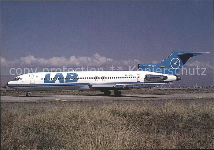 Flugzeuge Zivil LAB Lloyd Aereo Boliviano Boeing 727 2K3 CP 1276 c n 21082 1124 Kat. Flug