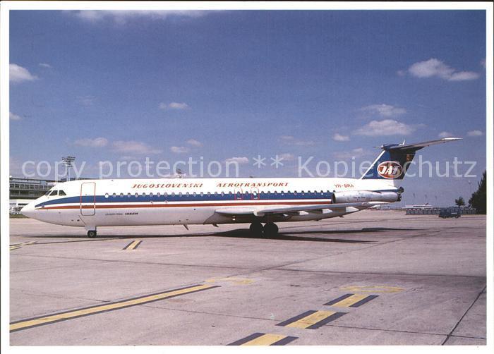 Flugzeuge Zivil JAT Jugoslovenski Aerotransport RomBac 1 11 561RC YR BRA cn 401 Kat. Flug