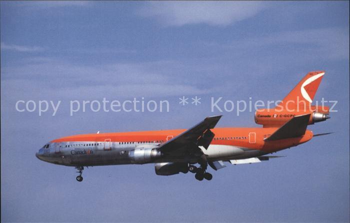 Flugzeuge Zivil Canadian CP Air DC 10 30 C GCPC Kat. Flug