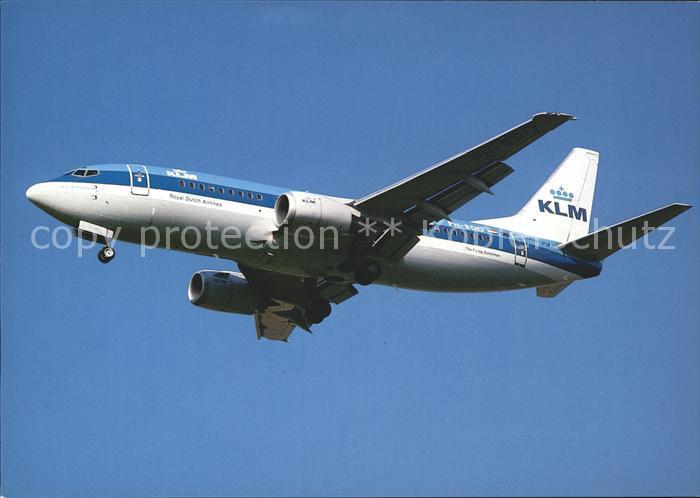 Flugzeuge Zivil KLM Royal Dutch Airlines Boeing 737 Kat. Flug
