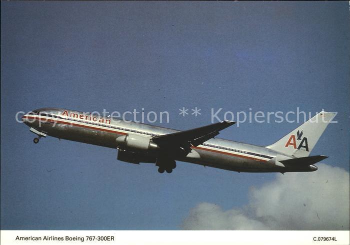 Flugzeuge Zivil American Airlines Boeing 767 300ER  Kat. Flug