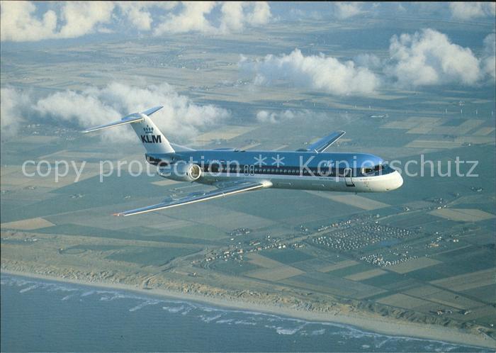 Flugzeuge Zivil Fokker 100 KLM Royal Dutch Airlines PH KLC Kat. Flug