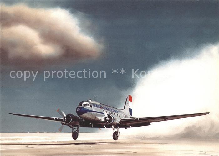 Flugzeuge Zivil KLM Royal Dutch Airlines Douglas C 47A 1 DK PH TAZ  Kat. Flug