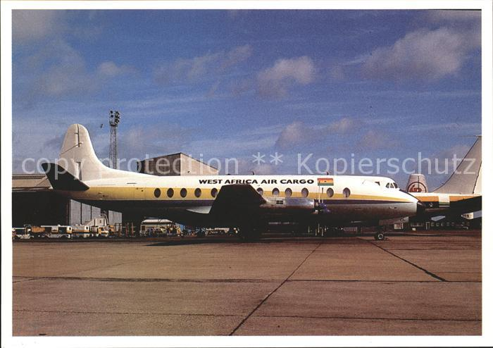 Flugzeuge Zivil Vickers Viscount West Africa Air Cargo  Kat. Flug