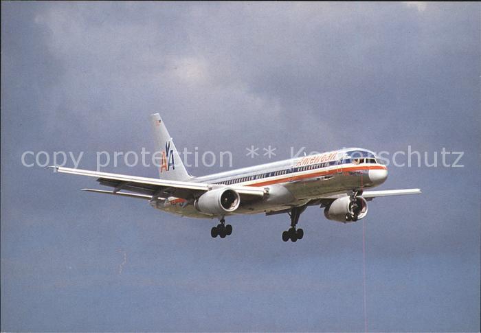 Flugzeuge Zivil American Airlines Boeing 757 Kat. Flug