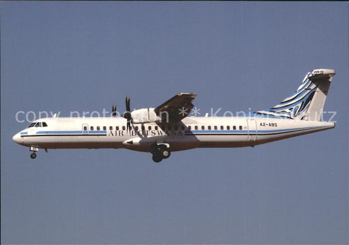 Flugzeuge Zivil Air Botswana ATR 72 500 A2 ABS c n 788 Kat. Flug