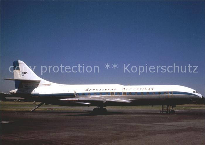 Flugzeuge Zivil Aerolineas Argentinas Caravelle III LV HGX cn19 Kat. Flug