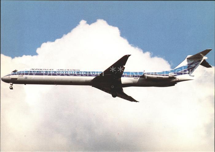 Flugzeuge Zivil Aerolineas Argentinas MD 88 LV VBZ 53049 Kat. Flug