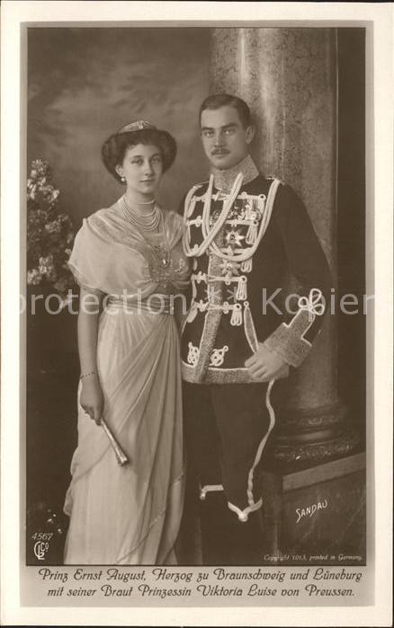 Adel Prinzessin Viktoria Luise von Preussen Prinz Ernst August Herzog zu Braunschweig und Lueneburg Kat. Koenigshaeuser