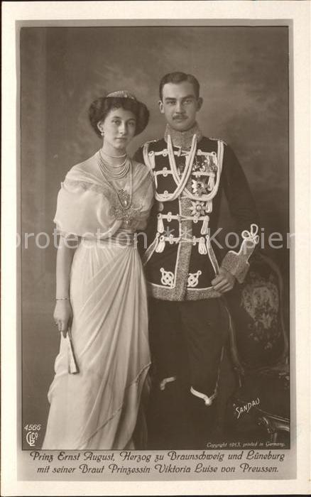 Adel Prinz Ernst August Herzog zu Braunschweig und Lueneburg Prinzessin Viktoria Luise von Preussen Kat. Koenigshaeuser