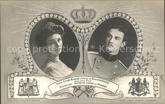 Adel Preussen Prinzessin Victoria Luise Prinz Ernst August Herzog zu Braunschweig Kat. Koenigshaeuser
