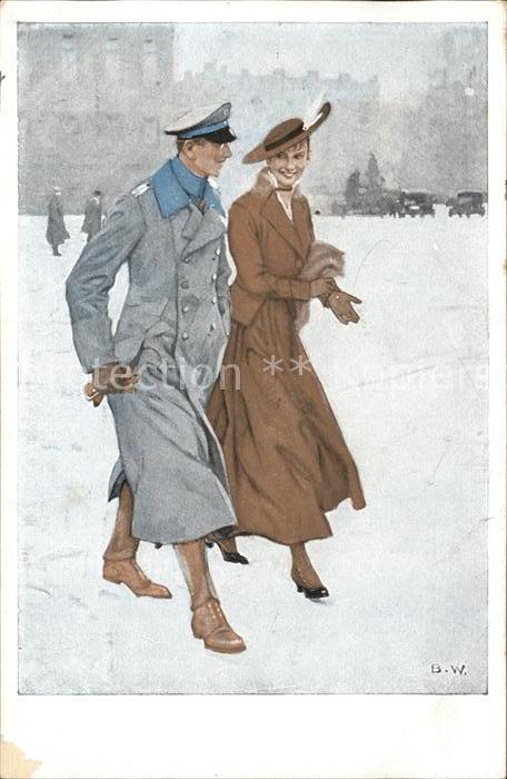 Wennerberg Brynolf Kriegspostkarte Nr. 14 Renommierbummel Kat. Kuenstlerkarte